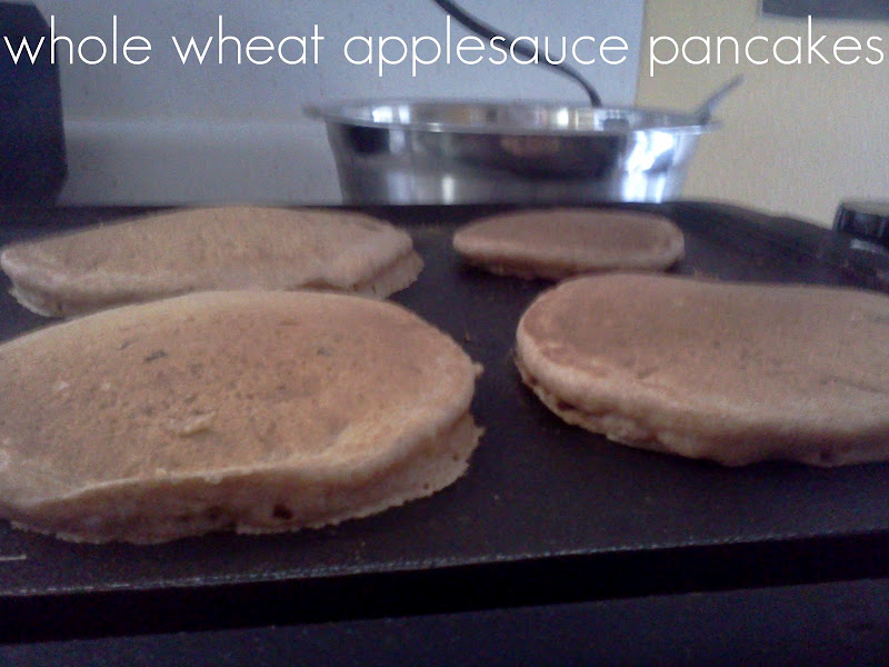 100% Whole Wheat Applesauce Pancakes