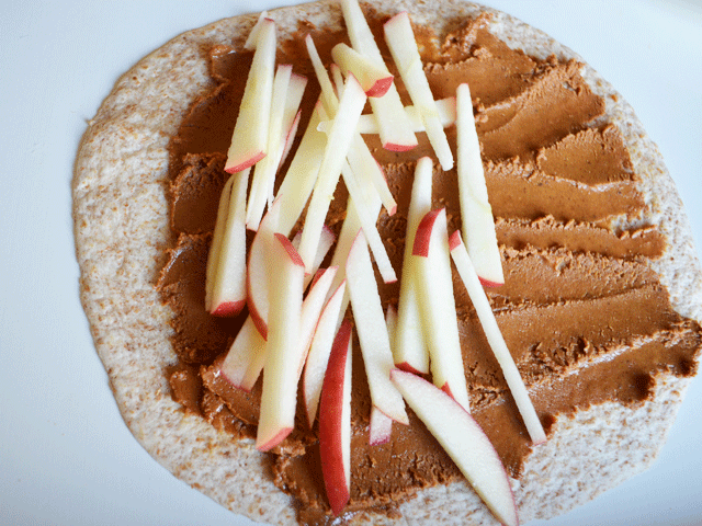 Maple Almond Butter Roll Up