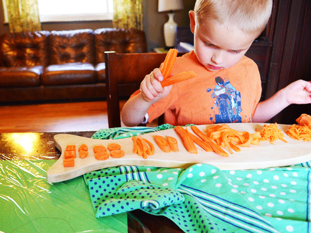 Carrot Portraits. Create an edible portrait!