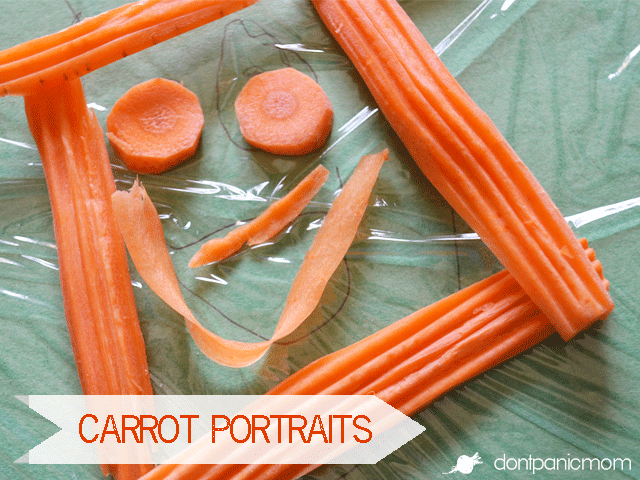 Carrot Portraits - Easy art project that's edible, too!