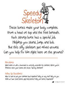 Speedy Skeleton Classroom Game | PREK - First Grade