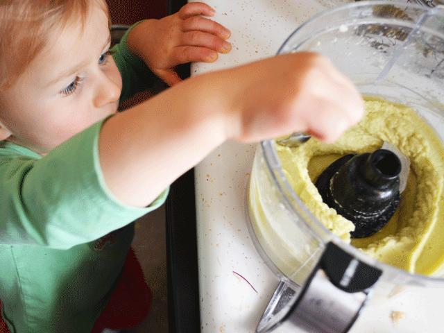 White Bean Avocado Dip with DIY Pita Chips