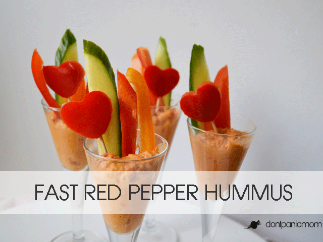 Fast Red Pepper Hummus