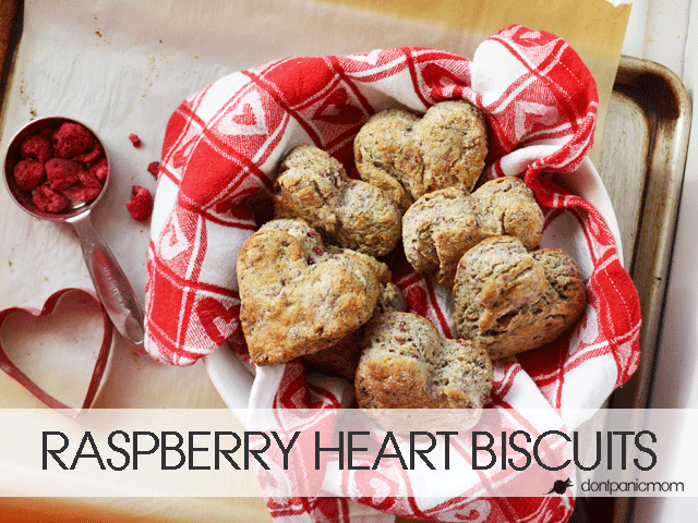 Raspberry Heart Biscuits - Fast and Festive!