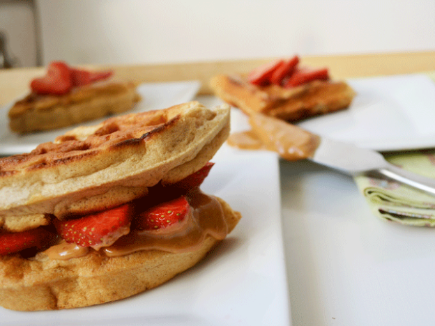 Strawberry + Peanut Butter Wafflewich