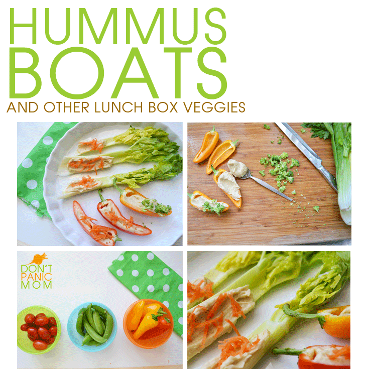 Hummus Boats! Easy to tuck in a lunchbox.