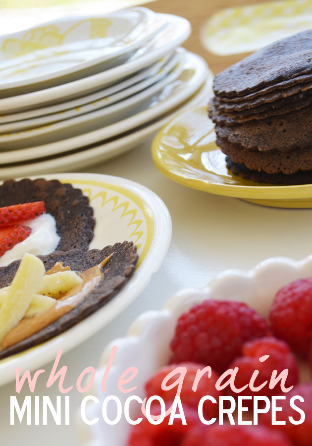 Mini Cocoa Crepes with Whole Grains and Coconut Oil