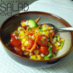 This is appropriately titled, the Most Delicious Salad Ever. From the kitchen of Kareen Turner from i_amEatingRight