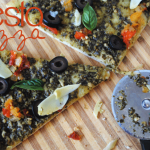 Make this 30 minute Pesto Pizza! #Easy way to get a serving of veggies in at dinner time.