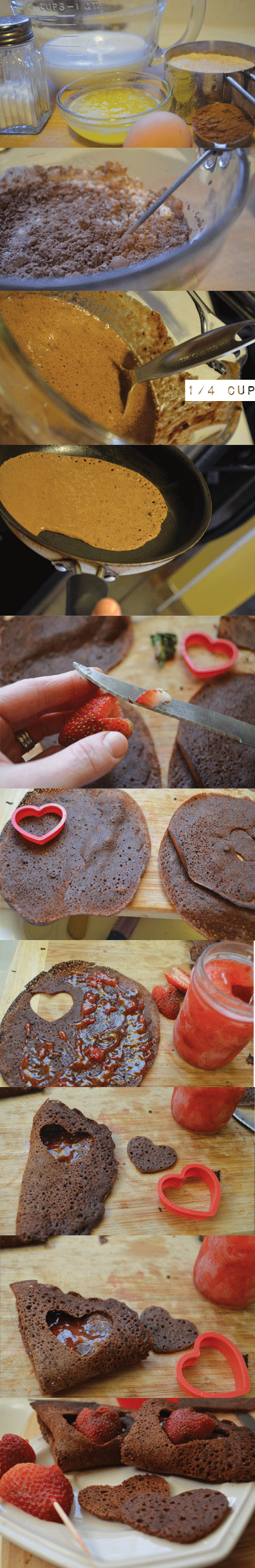 Peekaboo Chocolate Crepes from Don't Panic Mom