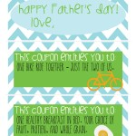 Free printable Father's Day Coupons from @dontpanicmom