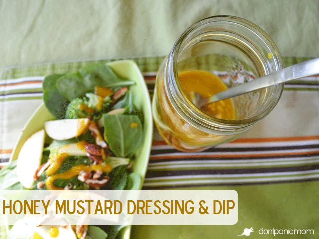 Honey Mustard Dressing and Dip | Don't Panic Mom
