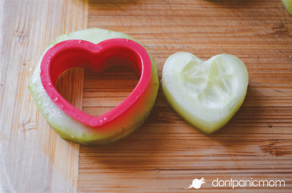 Cucumber hearts for a salad!