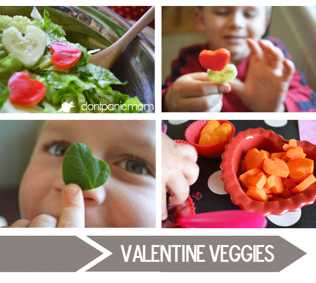 EASY Valentine Veggies | Don't Panic Mom