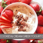 Cookies and Cream Greek Yogurt Dip