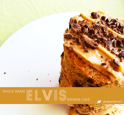 Whole Grain Elvis Banana Cake | Don't Panic Mom