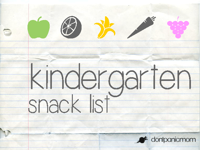 Kinder-Snack-List