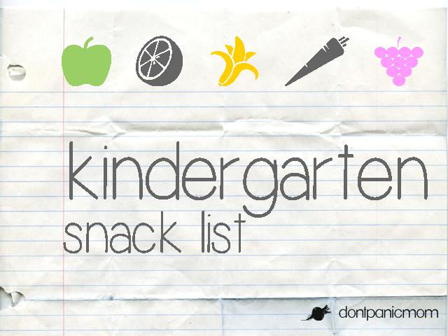 Kinder-Snack-List