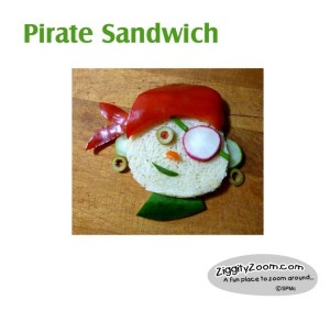 Pirate Veggie Sandwich