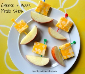 cheese and apple boats
