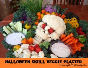 halloween veggie platter skull 2