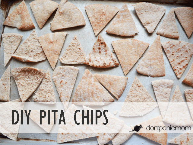 White Bean Avocado Dip with DIY Pita Chips