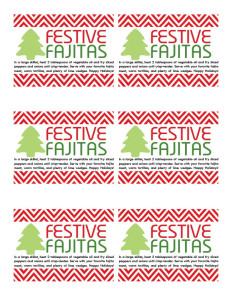 Festive Fajitas Printable