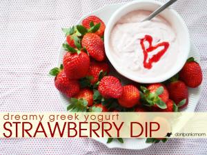 Dreamy Greek Yogurt Strawberry Dip