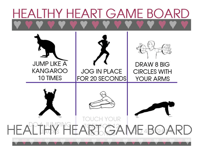 Healthy Heart Game Board for Classrooms