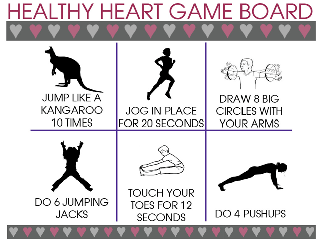 Healthy Heart Game Board