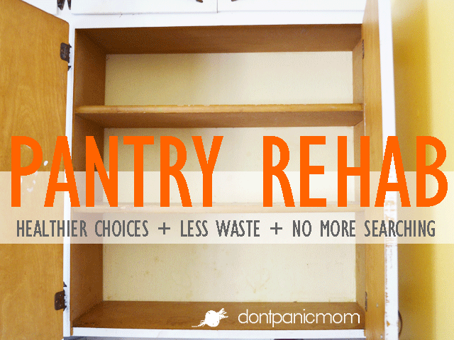 Pantry Rehab - 5 easy steps to a more efficient pantry
