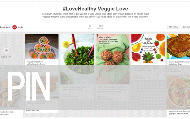 Pin to the #LoveHealthy Veggie Board!