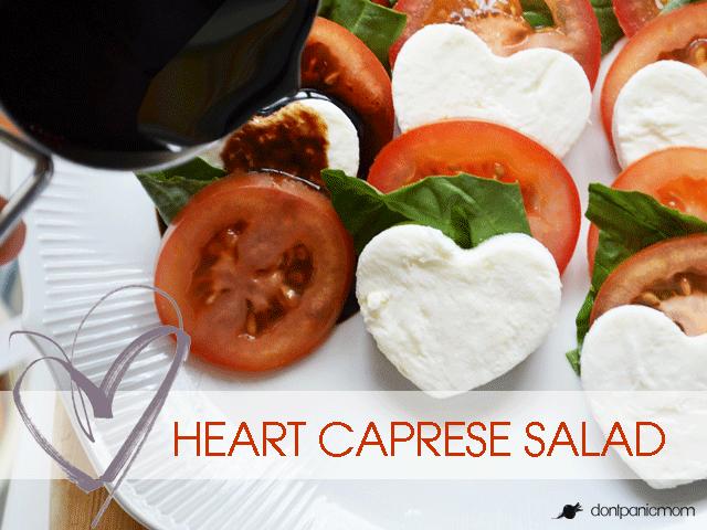 Heart Caprese Salad