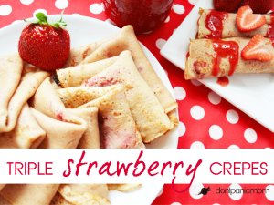 Triple Strawberry Crepes