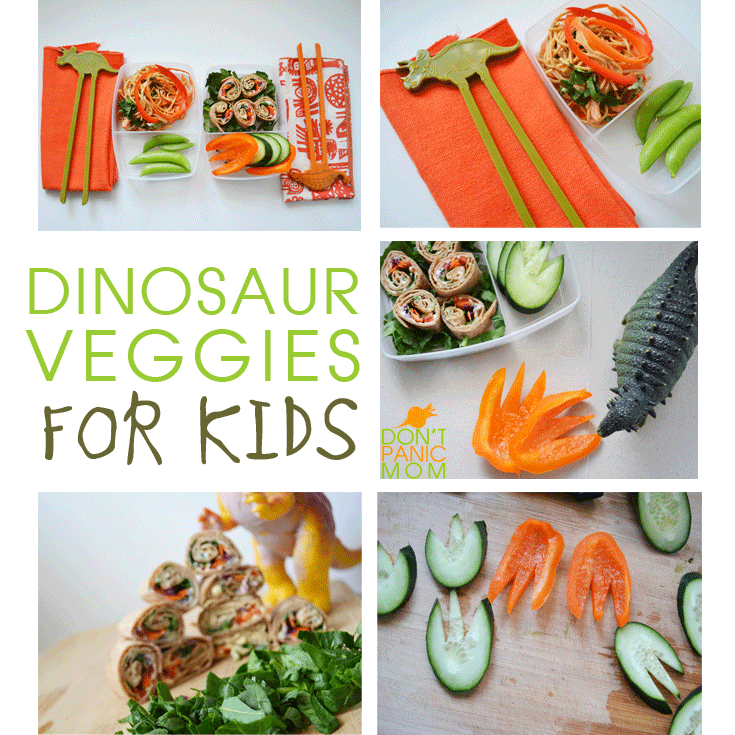 Snack and Lunch Ideas for Dino Loving Kids! Lots of veggies in these super easy recipes!