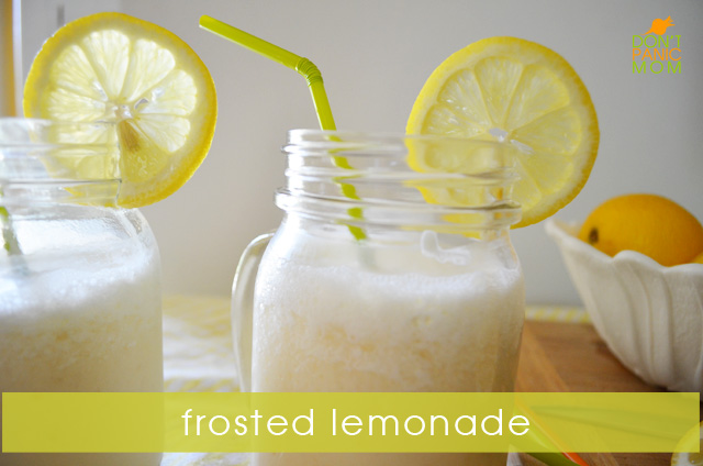 Frosted Lemonade - Just in time for July heat! | @Dontpanicmom